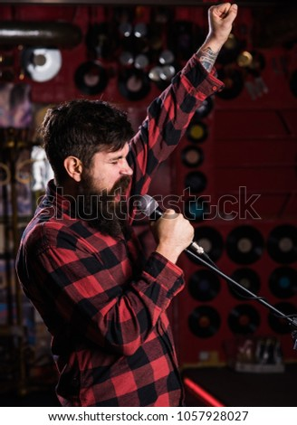 Man singing in the karaoke club Images and Stock Photos - Page: 2