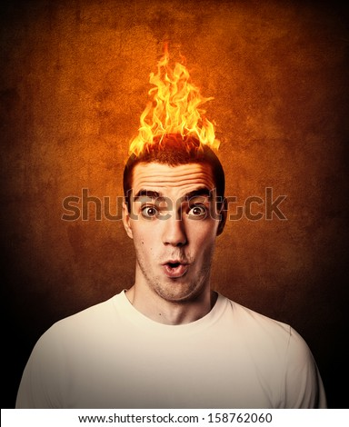 man with flaming hair