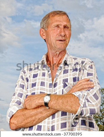 Man with gesture and expression - stock photo