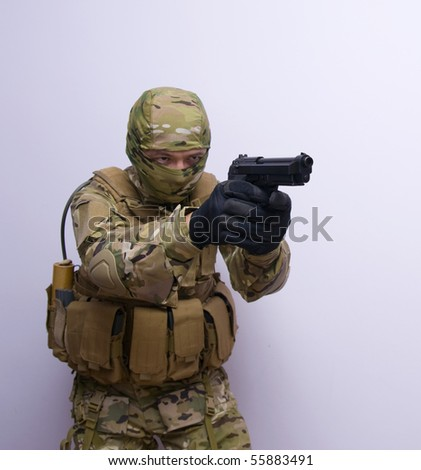 man with gun from special forces