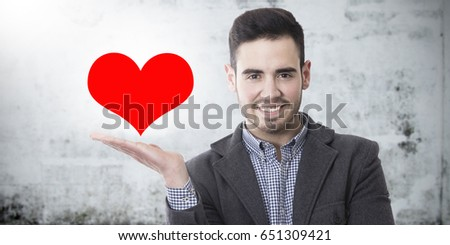 man with heart #651309421