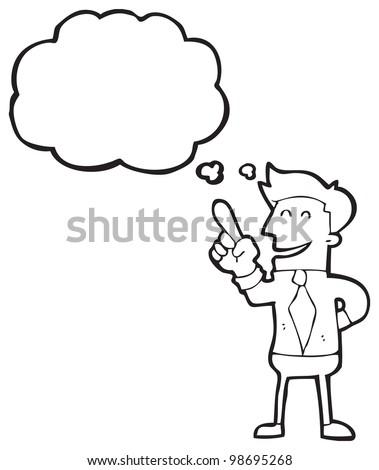 man with idea cartoon - stock photo