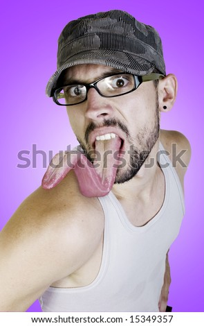 Y TÚ ¿ QUE SABES HACER? Stock-photo-man-with-long-tongue-15349357