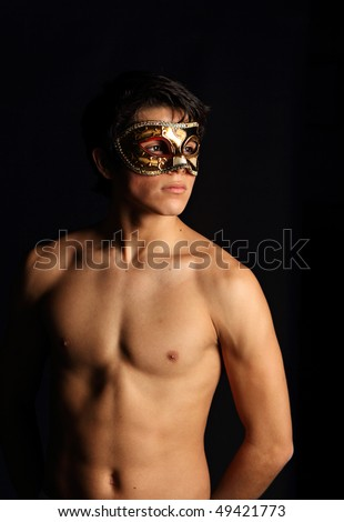 Man with mask. More of this model in my portfolio.