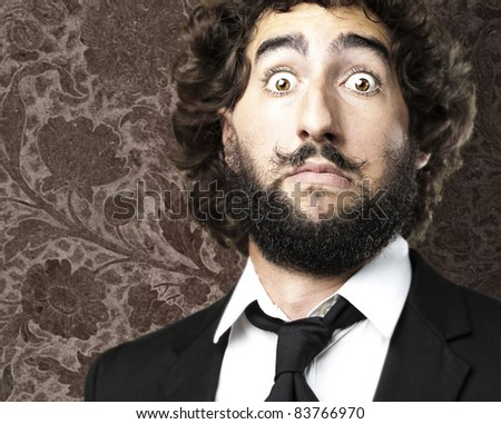 man with strange mustache...