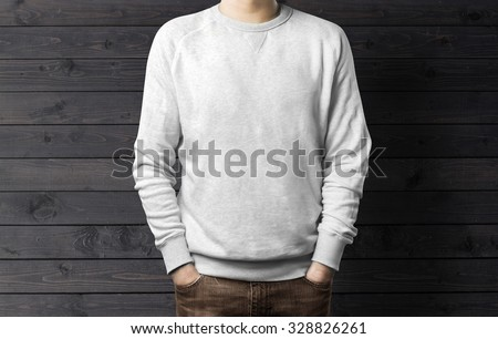Man with sweatshirt