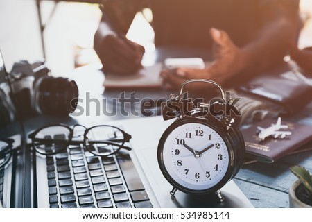 Man with tattoo working at home, save money for family  #534985144