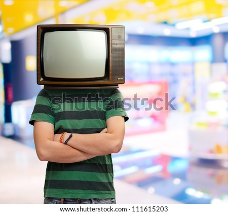 Man With Television Head, Indoor