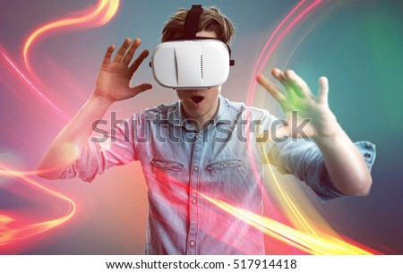 Stock Photo Man with vr glasses