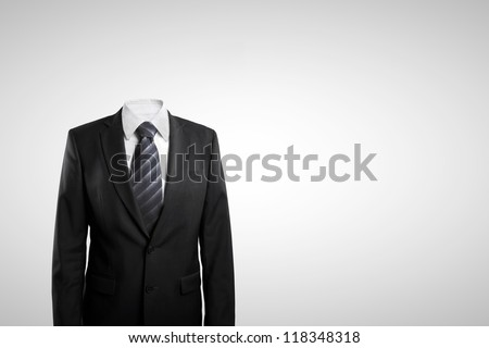 man without head  on white background