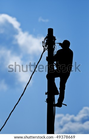 Man Working on the pole