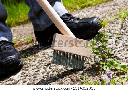 Man working with weed brush #1314052013