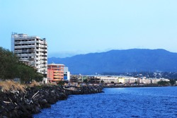 Manado in North SUlawesi, water front city.