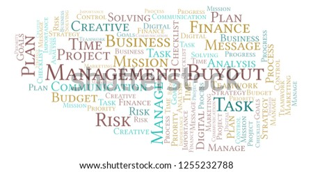 Shutterstock  Puzzlepix Management Buyout Word Cloud Made With Text Only