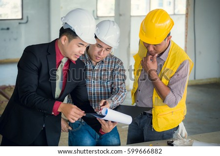 Free management consulting with engineers working with blueprint management consulting and engineers and foreman working with blueprint and drawing on work table for management malvernweather Choice Image
