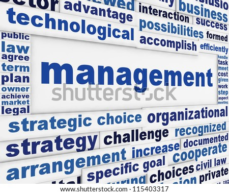 Management poster conceptual design. Business activities message background
