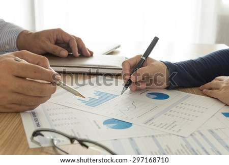 manager analyze financial numbers to view the performance of the company.