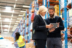 Manager and Supervisor in warehouse