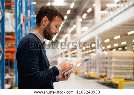 Manager in the warehouse #1105248950