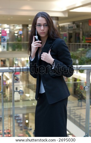 Manager women in a shopping mall