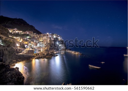 manarola by night #561590662