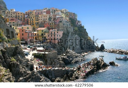 Manarola, Cinque Terre, Italy - stock photo