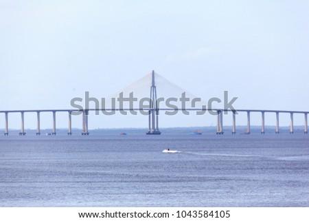 Manaus Bridge Ponta Negra beach #1043584105