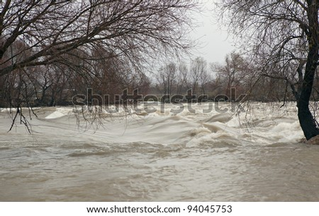 Manavgat River flooded