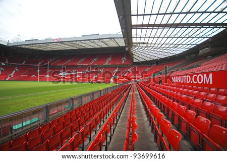 MANCHESTER, ENGLAND - JUNE 4: The Old Trafford stadium on June 4 ,2009 in Manchester, England. Old Trafford is home of Manchester United football club