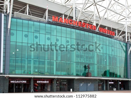 MANCHESTER, ENGLAND - SEPT 4: Old Trafford stadium on September 4th, 2012 in Manchester, England. Old Trafford is home to Manchester United football club one of the most successful clubs in England