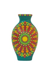 Mandala jug on white background