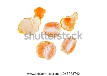 Mandarins isolated on white background #1067293742