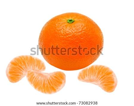 Mandarins isolated on white background