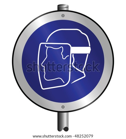 Mandatory Face Visor Industry Sign Mounted On Post Stock. Binder Stickers. Night Club Logo. Record Discs For Sale. German Shepherd Decals. Firewatch Murals. Write In Different Lettering. Fire Png Decals. Sprained Signs
