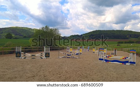Manege for horses in the open air.