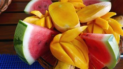 Mango and watermelon