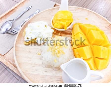mango dessert (Thai dessert) #584880178