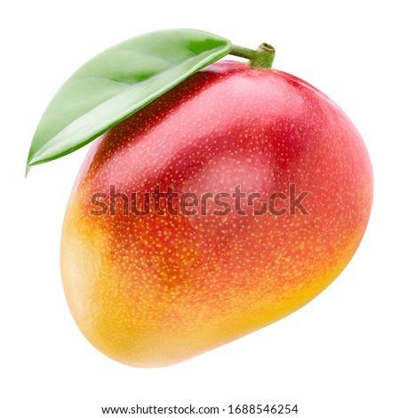 Mango fruit. Mango isolated on white background. With clipping path. Foto stock ©