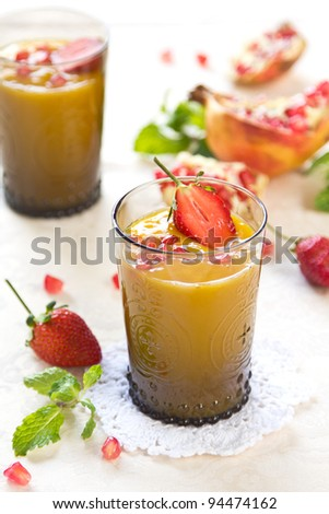 Mango,Pineapple and Pear smoothie