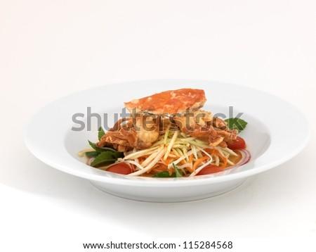 Mango salad with horse crab