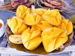 Mango that I ate in Cebu island hopping tour in Philippines