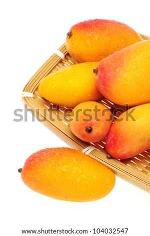 mangos on white background