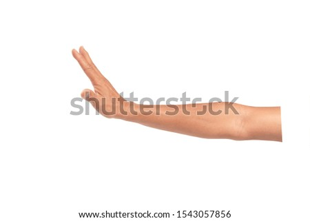 Manh hand isolated on white background. Foto stock ©