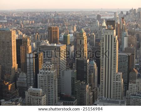 Manhattan aerial view.