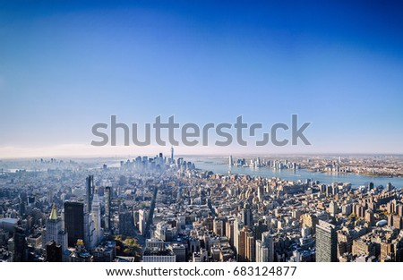 Manhattan and Lower Manhattan  #683124877