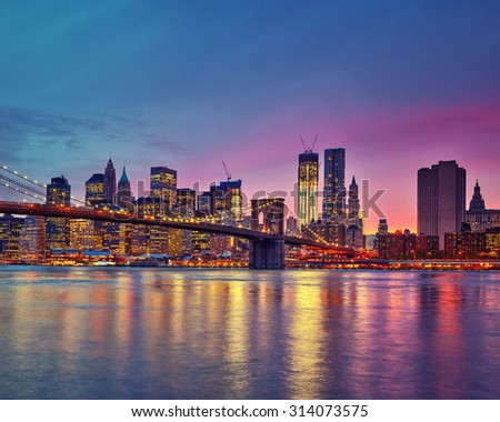 Manhattan at dusk, New York City