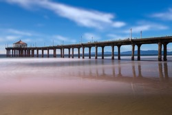 Manhattan Beach Pier, California, Long Exposure.