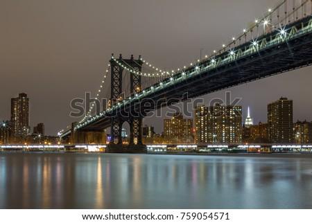 Manhattan Bridge at Night #759054571