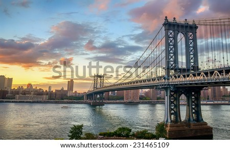 Manhattan Bridge at Sunset #231465109