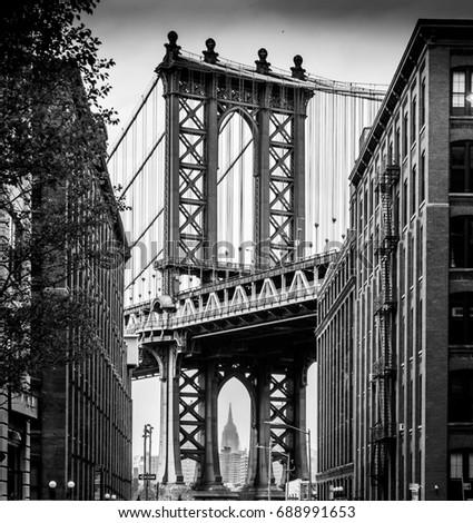 Manhattan Bridge from Brooklyn.   #688991653